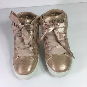 Steve Madden rose gold kid's sneakers